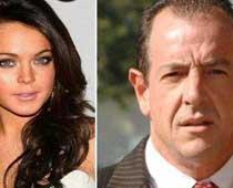 Lindsay Lohan's father locked away