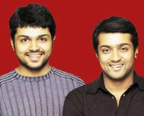 Coffee war between Karthi, Suriya