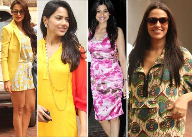 Malaika, Sameera, Neha attend Shilpa's baby shower