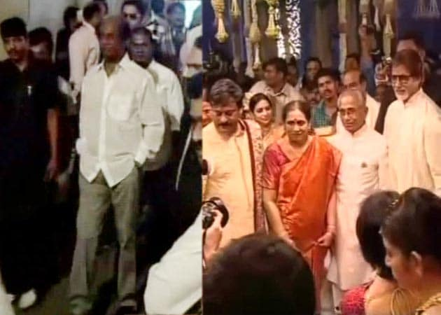 Rajinikanth, Big B at Ram Charan Teja's wedding