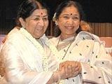 Asha Bhosle wishes Lata Mangeshkar on her birthday, gets emotional