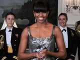 Oscars 2013: Michelle Obama announces <i>Argo</i>'s Best Picture win in silver Naeem Khan