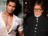 Shahid Kapoor makes Big B groove on KBC