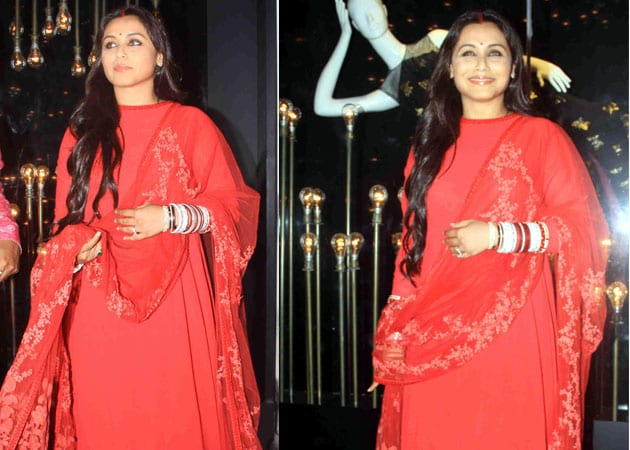 Rani Mukerji, in Bridal Red, Plays Hostess at Chopra Store Launch