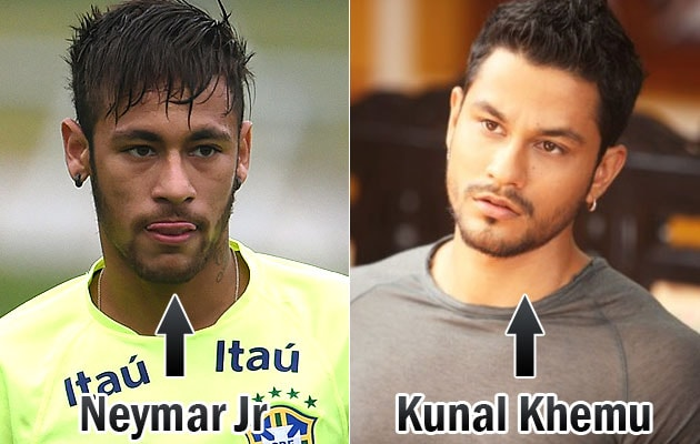 Celebrity Lookalikes: Brazil's Neymar Jr is a Dead Ringer for Kunal Khemu