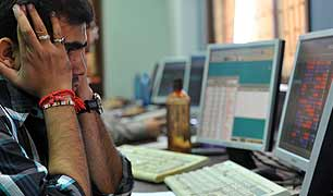 Sensex down 345 points, Nifty at 25-month low