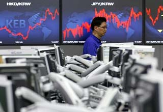 Asian shares fall over Greece uncertainty, slowing growth