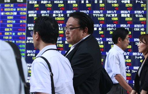 Asian shares inch up after US gains, dollar eases