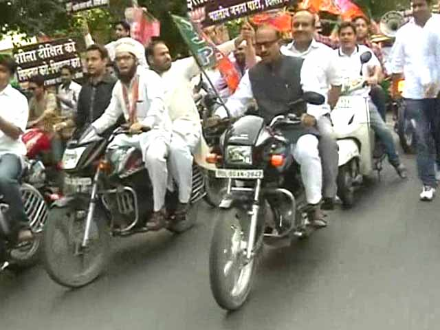 Video : Delhi BJP protests fuel price hike by holding a 100-bike rally