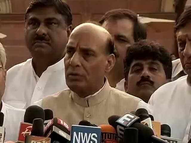 Video : Muzaffarnagar riots: Rajnath meets President, demands probe by Supreme Court-appointed judge