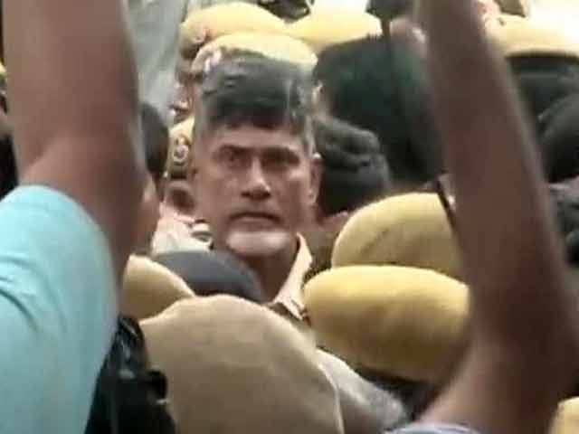 Video : Fasting Chandrababu Naidu evicted from Delhi's Andhra Bhavan, taken to hospital