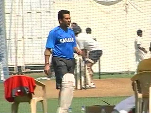 Video : Sachin Tendulkar starts training for last Ranji Trophy match