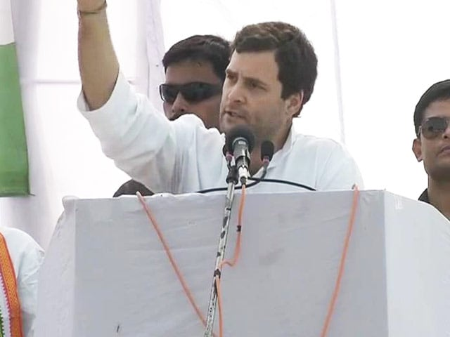 Video : Ask your govt to bring Bangalore to Bundelkhand: Rahul Gandhi at UP rally