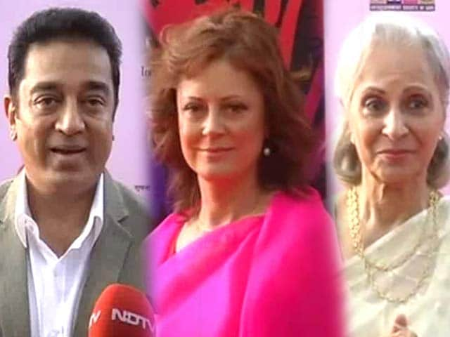 Video : Big stars at IFFI 2013 in Goa