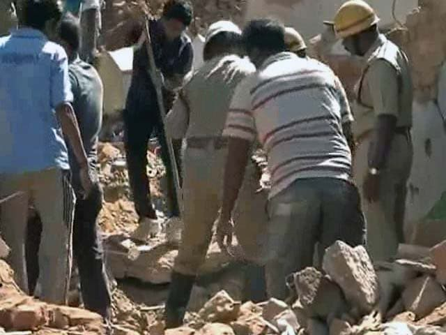 Video : Bangalore building collapses reportedly after catching fire, 3 dead