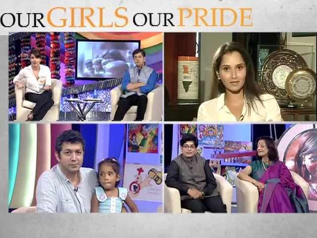 Video : Sania Mirza takes up the cause of the girl child