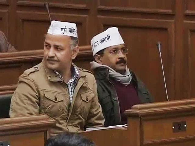 Video : Arvind Kejriwal, newly elected Aam Aadmi Party MLAs take oath in Delhi assembly