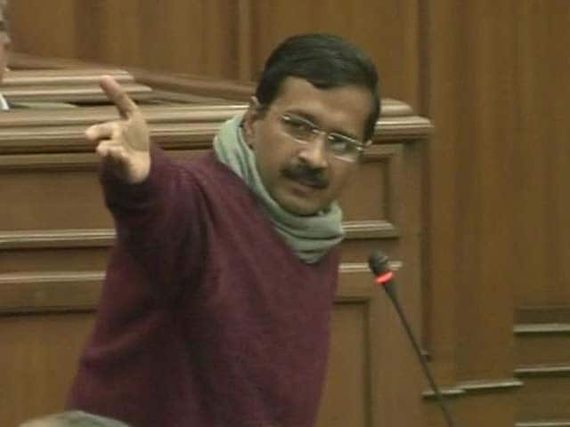 Video : Delhi with Kejriwal. AAP wins trust vote