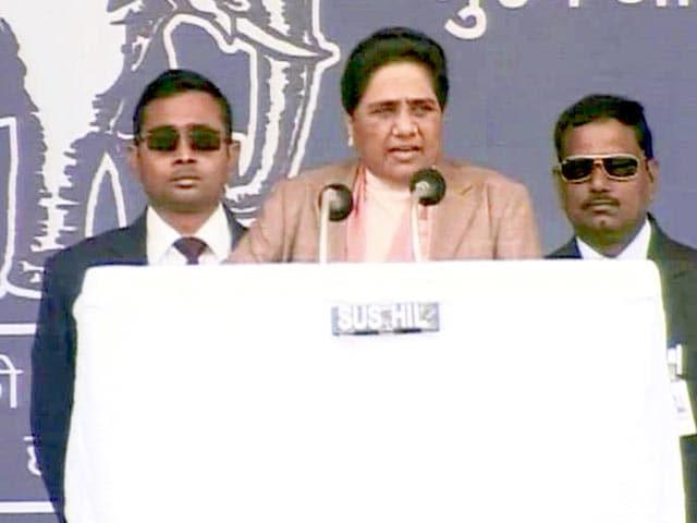 Video : Uttar Pradesh has now become crime <i>pradesh</i>, says Mayawati