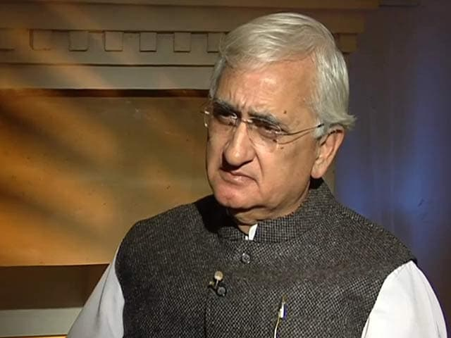 Video : AAP anarchists, has some third rate members: Salman Khurshid to NDTV
