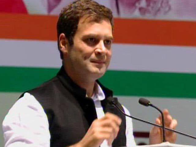 "Video : Rahul Gandhi takes charge, says ""we are warriors"""