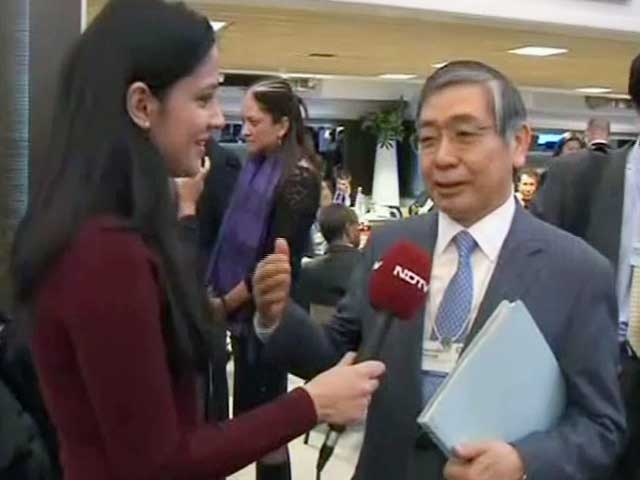 Video : Half way through with deflation, QE to continue: BoJ chief