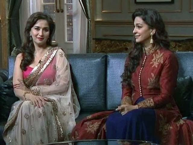 Rival revelry over Koffee: Madhuri, Juhi