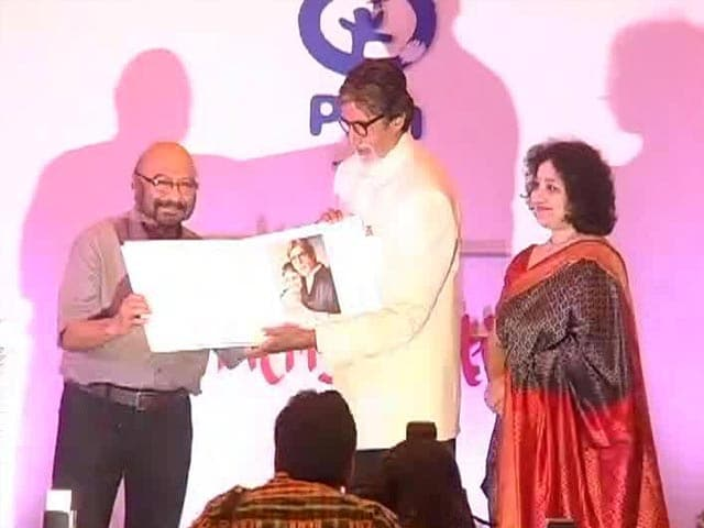 Video : Big B celebrates being <i>babul</i> to a daughter