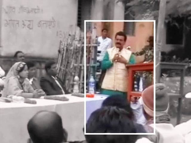 Video : Day after Sushma attack, BJP inducts leader with 46 criminal cases against him