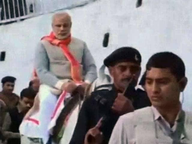 Video : Narendra Modi visits Vaishno Devi shrine ahead of J&K rally