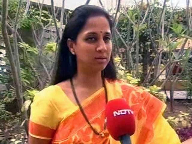 Video : Sharad Pawar's 'vote twice' comment was a joke, says daughter Supriya Sule