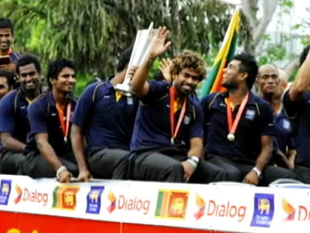 Victorious Sri Lankan cricket team returns home