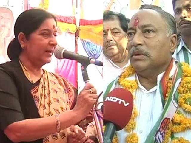 Video : Digvijaya's brother a challenge for Sushma Swaraj in Vidisha?