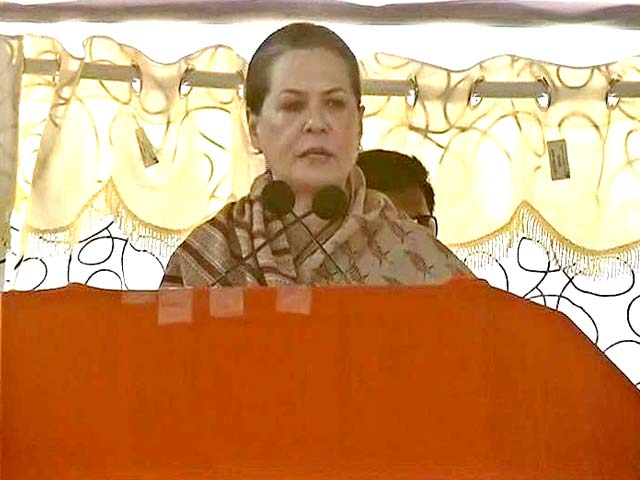 Video : Sonia Gandhi Vows to Make Up with Seemandhra
