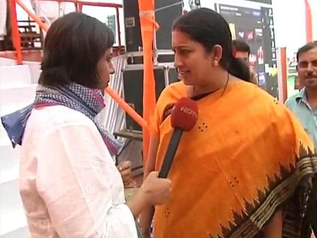 Video : Watch: Priyanka's Barbs a Sign of Nervousness: Smriti Irani to NDTV