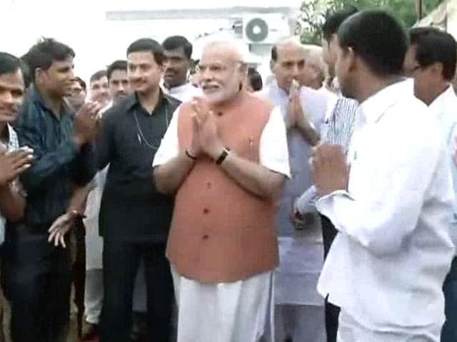 Video : Prime Minister Narendra Modi Meets BJP Workers, Thanks Them for Party's Victory