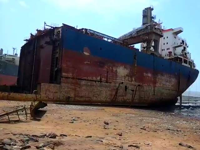 Video : Five Killed, Seven Injured in Fire at Ship Breaking Yard in Gujarat