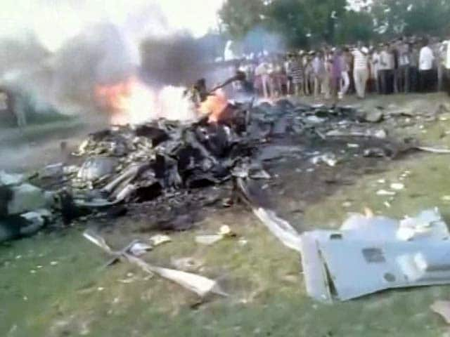 Video : 7 Dead in Air Force Helicopter Crash Near Lucknow