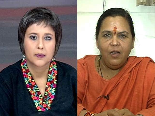 Video : Top Court Reprimand Not Directed at Us: Uma Bharti to NDTV