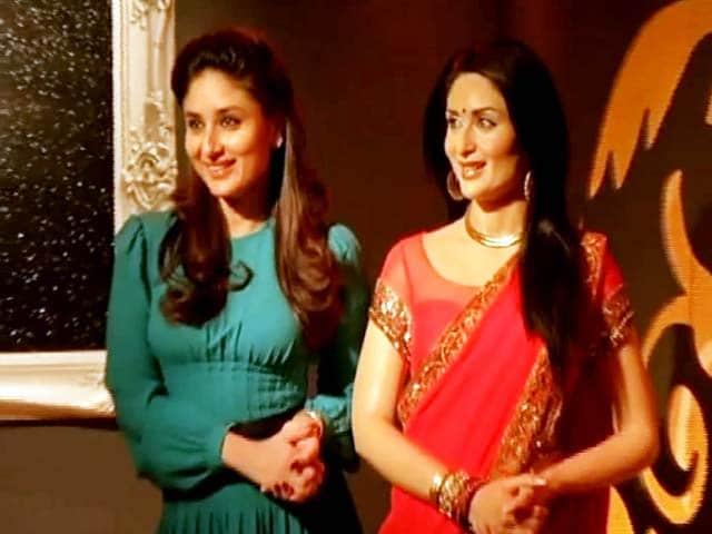 Kareena Kapoor Restyles Her Wax Figure in RA.One Sari
