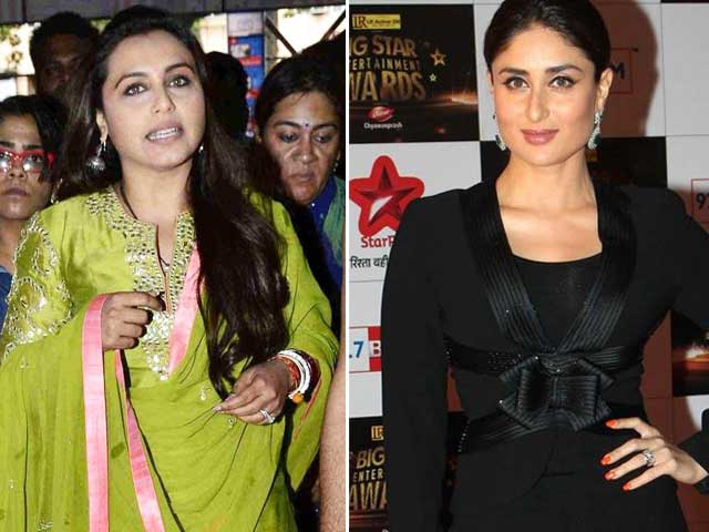 Rani Mukerji, Kareena Kapoor's Social Inclination