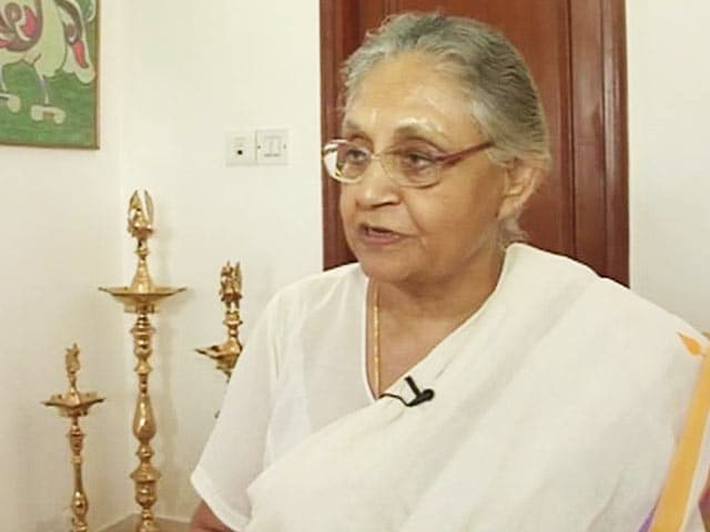 Video : I Want a Full Stop for Myself in Delhi Politics: Sheila Dikshit to NDTV