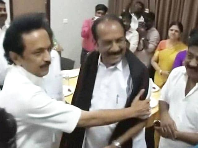 Video : At a Wedding, DMK Initiates Talks for a Mega-Alliance