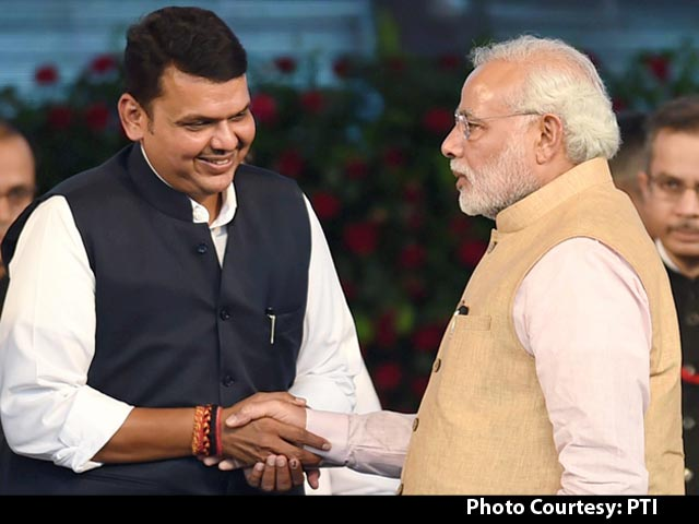 Video : Maharashtra's First BJP Government Takes Oath