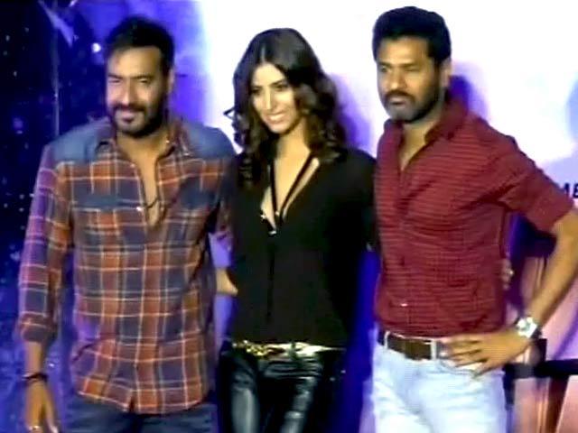 Video : Ajay Devgn, Prabhu Deva Launch New <i>Action Jackson</i> Song Sans Sonakshi