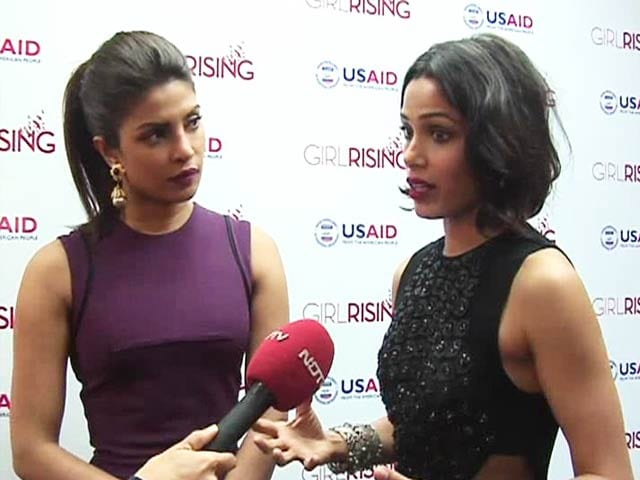 Priyanka Chopra, Freida Pinto on