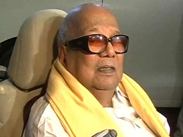 Video : Karunanidhi Storms Out of Assembly, Says 'No Place for Disabled Like Me'