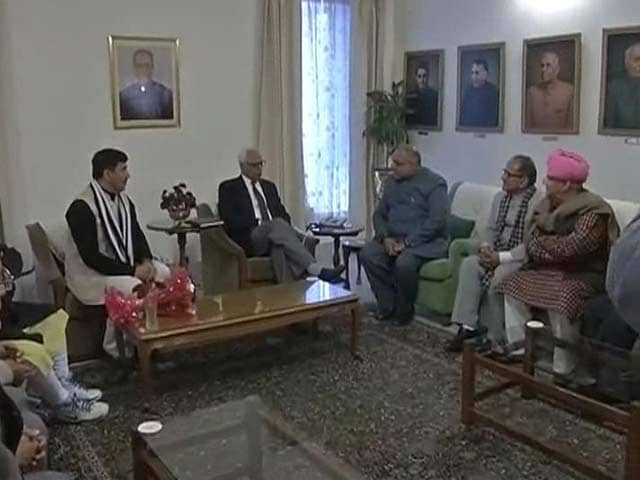 Video : Jammu and Kashmir Government Formation: BJP Meets Governor NN Vohra
