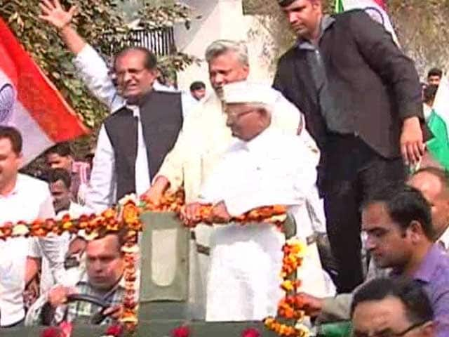 Video : March Against Land Acquisition Law Begins in Haryana, Prominent Activists Unite