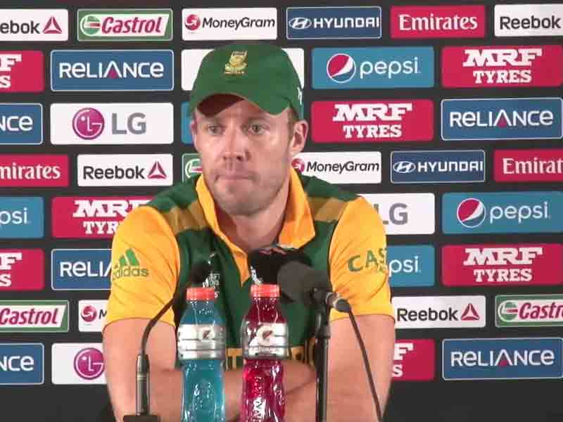 Video : World Cup: We Were Like a Car Stuck in Second Gear, says AB de Villiers
